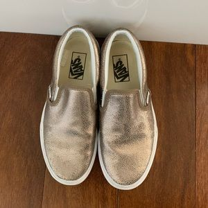 Vans Metallic Slip on. Size 7